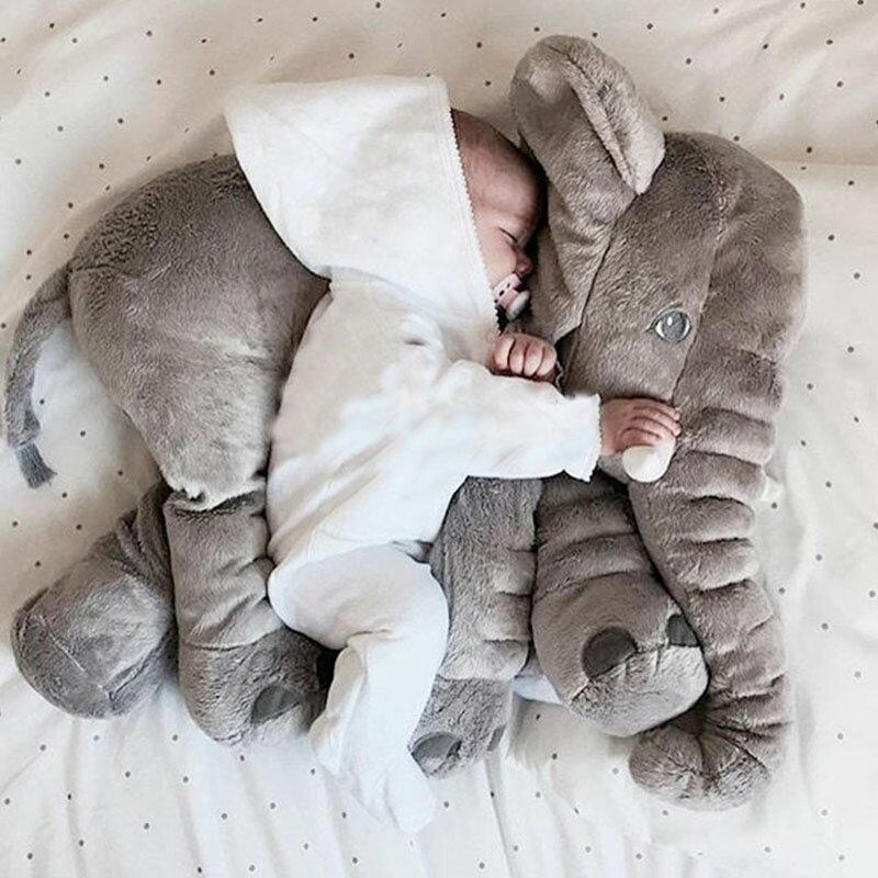 SISI【G6001】雅特斯托大象寶寶陪睡抱枕多用空調毯抱枕懶人毯子玩偶辦公室午休枕