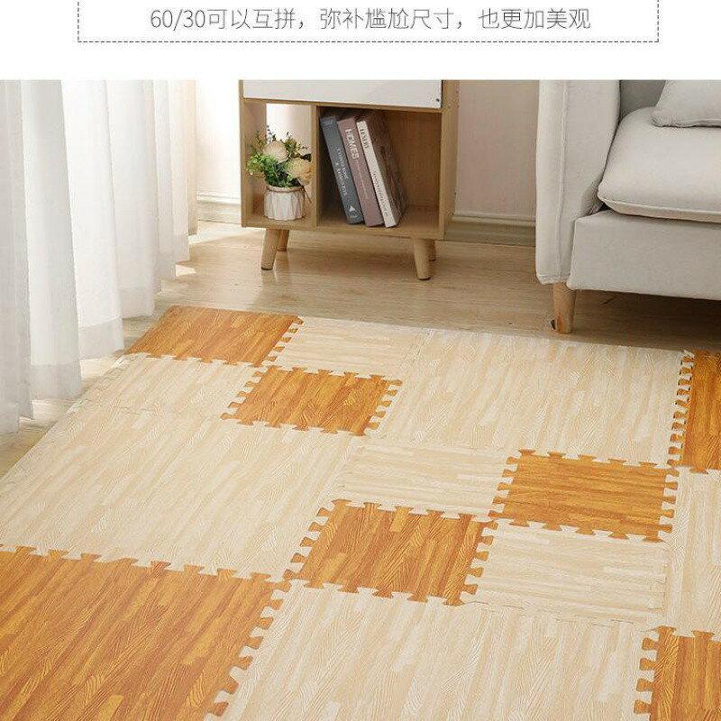 木紋泡沫地墊拼接爬行墊鋪地板泡沫墊臥室墊子地墊家用拼圖爬爬墊
