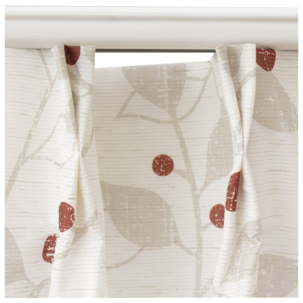 蕾絲窗簾 G HOLIDAY LEAVES OR 150×176 ×1 NITORI宜得利家居 1
