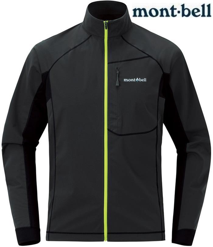 Mont-Bell 彈性跑步風衣/薄軟殼外套 男款軟殼夾克 Cross runner 1106641 炭灰DKCH