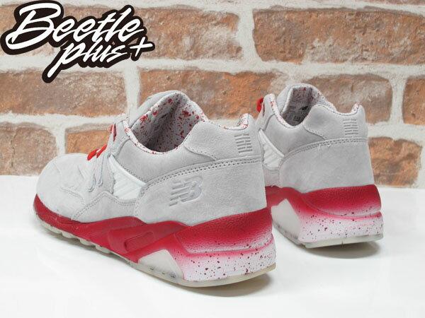 男生 BEETLE NEW BALANCE MT580GI2  BAIT 特種部隊 聯名 灰紅 白 休閒 復古 慢跑鞋 1