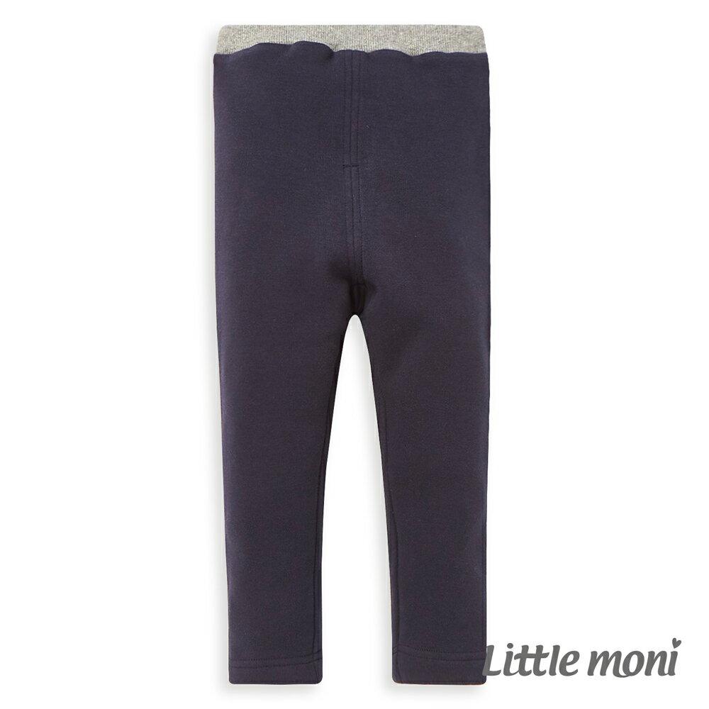 Little moni 內刷毛合身褲-深藍(好窩生活節) 0