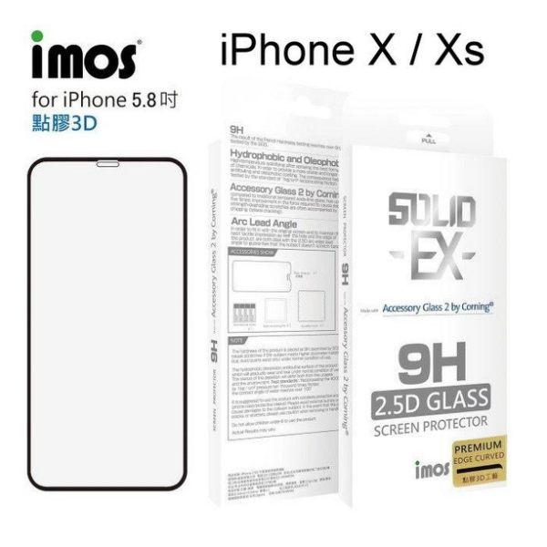 【愛瘋潮】iMOS2.5D康寧神極點膠3D滿版iPhoneXXS玻璃螢幕保護貼美觀防塵美國康寧授權