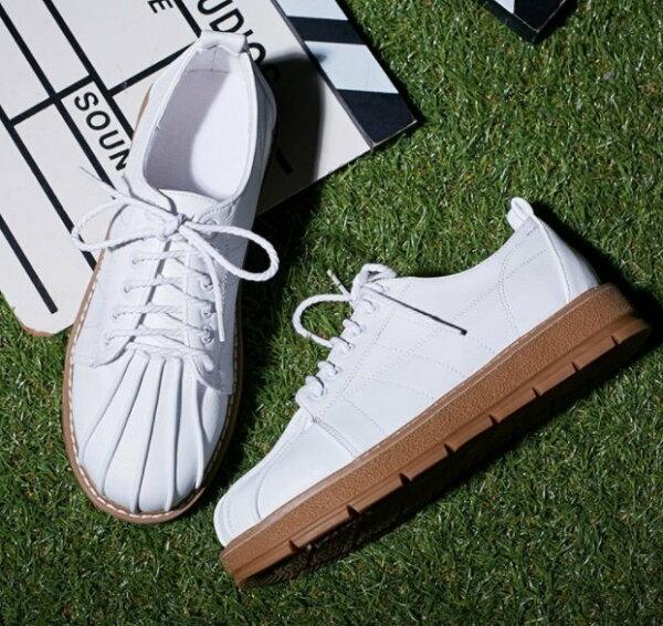 Pyf♥舒適圓頭寬楦綁帶休閒鞋軟Q厚底加大45大尺碼女鞋