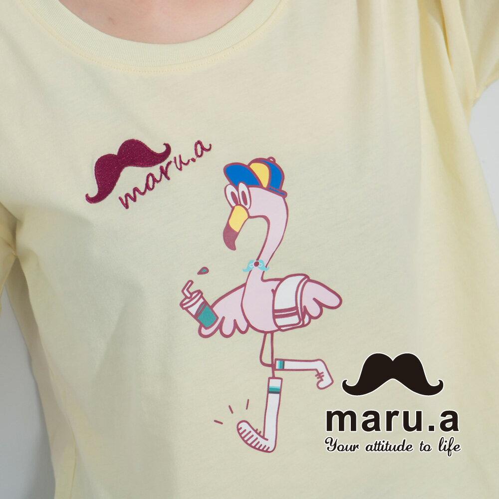 【maru.a】手繪紅鶴印花T-shirt7321237 1