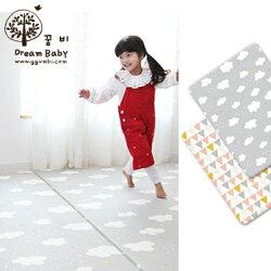 DreamB 韓國 雙面兒童遊戲地墊 - 雲朵幾何圖形 / 200 x 140 x 1.4cm