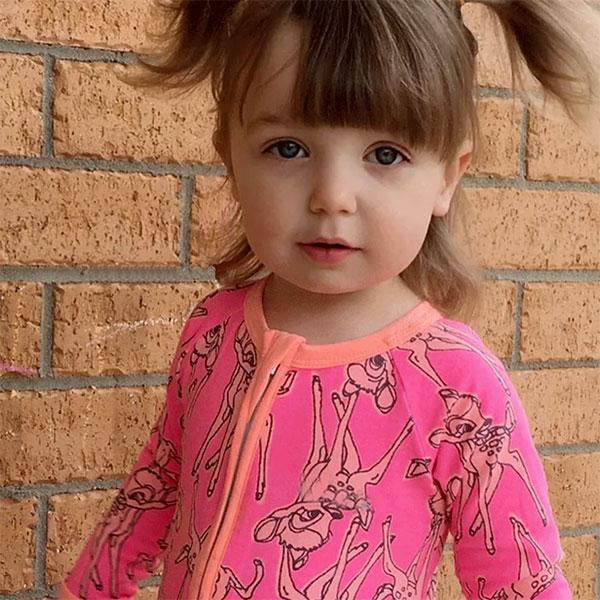 Anna S:ins桃色小鹿斑比連體衣長袖連身衣拉鍊拉鏈包屁衣長褲歐美彩色小鹿ANNAS.