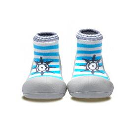 【悅兒樂婦幼用品舘】韓國Attipas快樂腳襪型學步鞋-AM02-船長淺藍(M/L/XL)