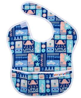 【悅兒樂婦幼用品舘】Baby City 防水圍兜-藍色機器人(6-24個月)
