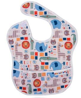 【悅兒樂婦幼用品舘】Baby City 防水圍兜-卡其色動物(6-24個月)