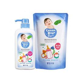 【悅兒樂婦幼用品舘】親貝比雪芙蘭嬰幼兒奶瓶清潔劑(1罐700ml+1包600ml)