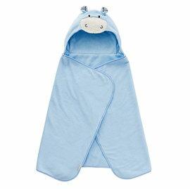 【悅兒樂婦幼用品?】奇哥 吸濕速乾造型浴袍巾-藍色小牛