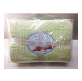 【悅兒樂婦幼用品舘】奇哥 立體格紋大柔舒毯(100 x 140cm)-綠色