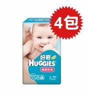 【悅兒樂婦幼用品?】HUGGIES 金好奇 護膚乾爽pH5.5紙尿褲(L)46+4片x4包入