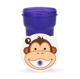 【悅兒樂婦幼用品舘】愛迪生EDISON 可愛動物吸管防漏水杯-300ml (猴子)