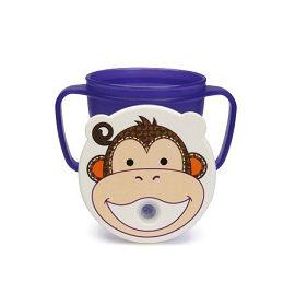 【悅兒樂婦幼用品?】愛迪生EDISON 可愛動物防漏吸管握把水杯-250ml (猴子)