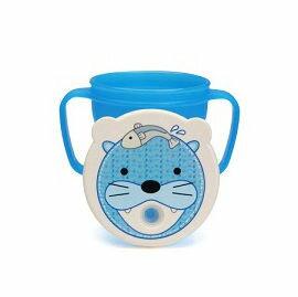 愛迪生EDISON 可愛動物防漏吸管握把水杯-250ml (海獅)【悅兒園婦幼生活館】