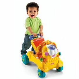 【悅兒樂婦幼用品?】Fisher-Price 費雪 兩用獅子聲光踏步車