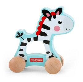 【悅兒樂婦幼用品?】Fisher-Price 費雪 木質玩具系列-推著走小斑馬