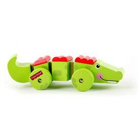 【悅兒樂婦幼用品?】Fisher-Price 費雪 木質玩具系列-推著走小鱷魚