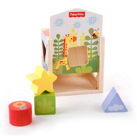Fisher-Price 費雪 木質玩具系列-可愛動物形狀配對盒【悅兒園婦幼生活館】