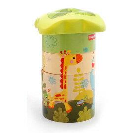Fisher-Price 費雪 木質玩具系列-可愛動物大樹配對積木【悅兒園婦幼生活館】