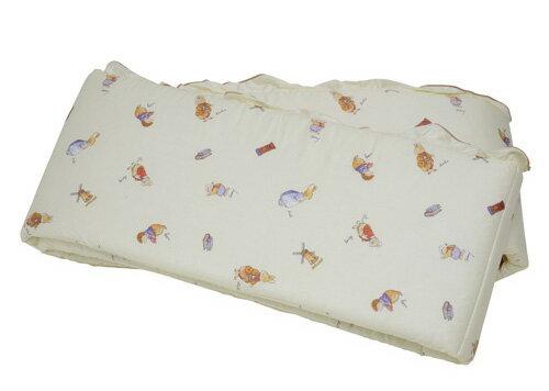 【悅兒樂婦幼用品?】FoxwoodTales狐狸村傳奇 高級精梳棉床護圈 (一般中床適用)-米色
