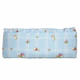 【悅兒樂婦幼用品舘】FoxwoodTales狐狸村傳奇 高級精梳棉床護圈 (一般中床適用)-藍色
