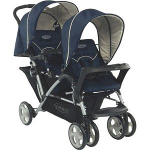 GRACO Stadium Duo 雙人前後座嬰幼兒手推車-天海藍【悅兒園婦幼生活館】