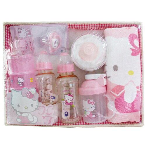 【悅兒樂婦幼用品舘】HELLO KITTY  凱蒂貓禮盒(PES奶瓶)