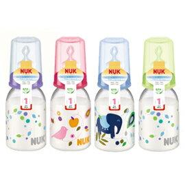 【悅兒樂婦幼用品舘】NUK 一般口徑PP印花奶瓶(110ml)-附1號中圓洞