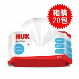 【悅兒園婦幼生活館】NUK 濕紙巾(80抽)【箱購20包入】