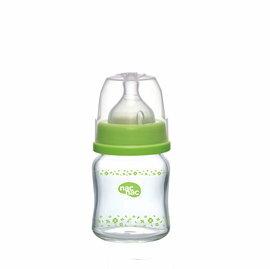 【悅兒樂婦幼用品?】nac nac 吸吮力學 寬口耐熱玻璃奶瓶(120ml)