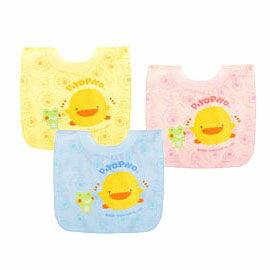 【悅兒樂婦幼用品舘】Piyo 黃色小鴨 毛巾布套入式圍兜 0