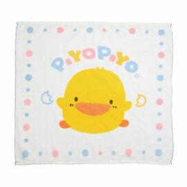 ~悅兒樂婦幼用品舘~Piyo 黃色小鴨 四方型雙層紗布浴巾