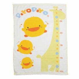 【悅兒樂婦幼用品?】Piyo 黃色小鴨 長方型雙層紗布浴巾