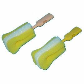 【悅兒樂婦幼用品舘】Piyo 黃色小鴨 組合式奶瓶刷頭(2入)