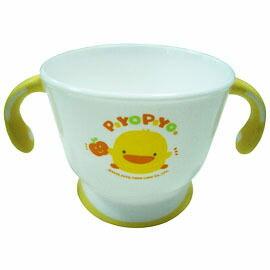 【悅兒樂婦幼用品舘】Piyo 黃色小鴨 雙色防滑雙耳杯(微波爐專用) - 限時優惠好康折扣