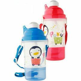 【悅兒園婦幼生活館】Puku 藍色企鵝 彈跳吸管水壺400c.c