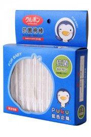 【悅兒樂婦幼用品?】Puku 藍色企鵝 極細軸抗菌棉棒(100入)