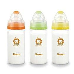 【悅兒樂婦幼用品館】小獅王 辛巴超輕鑽寬口直圓玻璃小奶瓶(180ml)