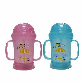 【悅兒樂婦幼用品?】亞米兔 學習吸管喝水杯360度旋轉不漏水