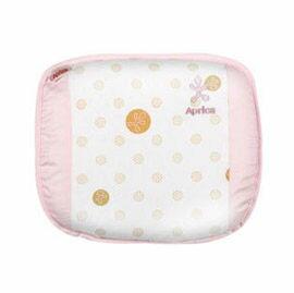 【悅兒樂婦幼用品?】Aprica 愛普力卡 透氣舒壓嬰幼兒乳膠護頭枕-甜蜜粉