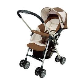 【悅兒樂婦幼用品舘】Combi 康貝 Spazio SZ-300Z雙向嬰兒手推車-拿鐵