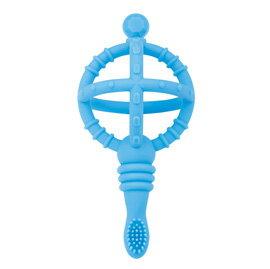 【悅兒樂婦幼用品舘】naforye 拉孚兒 權杖嬰兒練習軟牙刷-王子藍