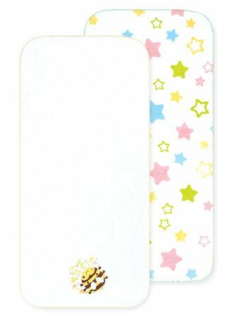 【悅兒樂婦幼用品?】naforye 拉孚兒純棉紗布澡巾(2入) - 蜜蜂星星組