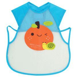 【悅兒樂婦幼用品?】naforye 拉孚兒 擦可淨用餐圍兜背心型-橘子