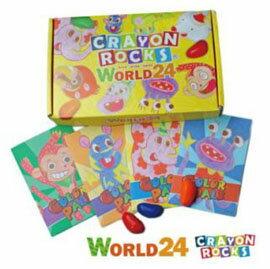 【悅兒樂婦幼用品?】美國 Crayon Rocks 酷蠟石24色-彩繪世界