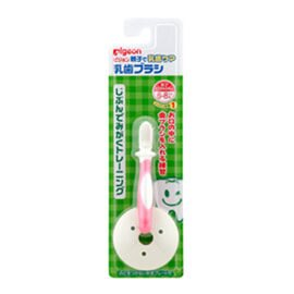 【悅兒樂婦幼用品舘】PIGEON 貝親 第一階段練習刷牙(6~8M) - 限時優惠好康折扣