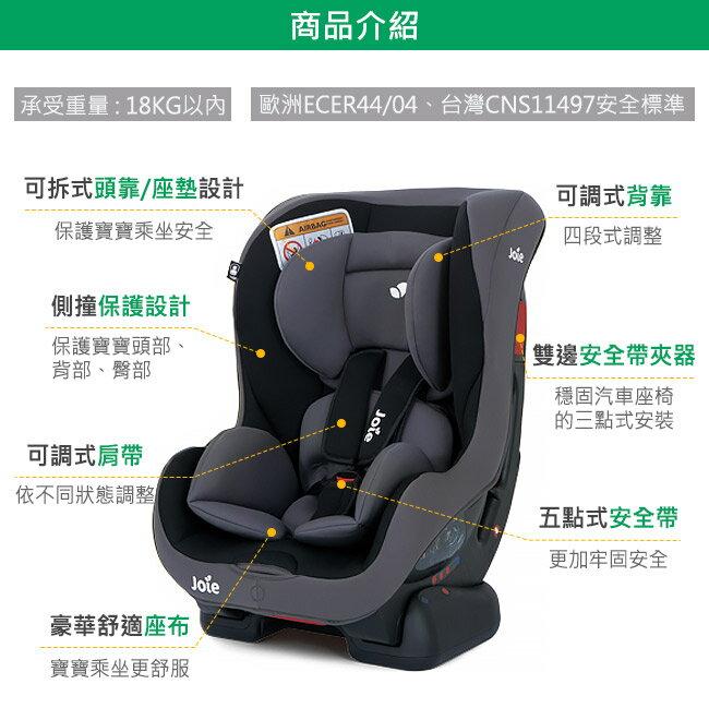 現貨到【奇哥Joie】tilt 0-4歲雙向汽車安全座椅-紅黑 / 灰黑 好窩生活節 4